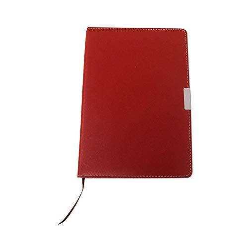 Cosanter Notizbuch Geschäfts Schulblock Weicher Kunstlederbezug Briefblock 80g Dowling-Papier Notebook Notizheft 20.8*14.2cm Rot