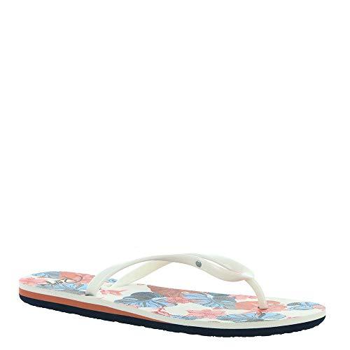 Roxy Damen Portofino Flip Flop Sandals Flipflop, Weiß Weiß Druck 202, 41 EU
