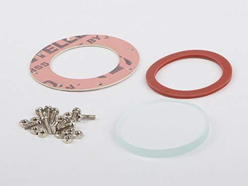 01549 - Wilesco ET - Wasserstandsglas, 4 mm Stärke, D=37 mm, mit Schrauben, Muttern und