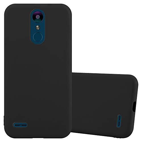 Cadorabo Hülle für LG K8 2018 / K9 2018 in Candy SCHWARZ - Handyhülle aus flexiblem TPU Silikon - Silikonhülle Schutzhülle Ultra Slim Soft Back Cover Hülle Bumper