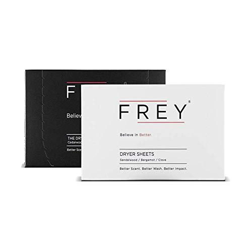 FREY Naturally Scented Dryer Sheets  2 Pack of 40 Natural Laundry Dryer Sheets 80 Total Sweet amp Bold Fragrance