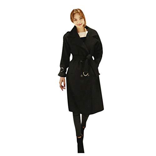 Minikimi Damesmantel Elegant Wol Trenchcoat Stijlvolle warme wollen mantel getailleerde wintermantel goedkoop outdoorjas lange winterparka jas outwear