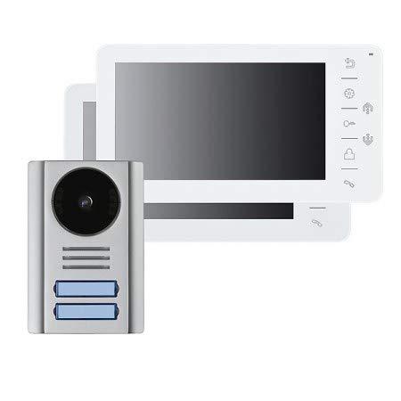 Video-Türsprechanlage mit 7 Zoll Monitor, 4-Draht, 2-Familien, VT38-2