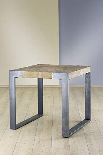 Soma houten bijzettafel Turin (BxHxD) 80 x 76 x 0 cm dennen, natuur, ijzer antraciet