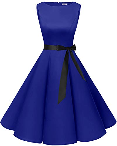 Bbonlinedress 50s Vestidos Vintage Retro Rockabilly Clásico Royalblue XL