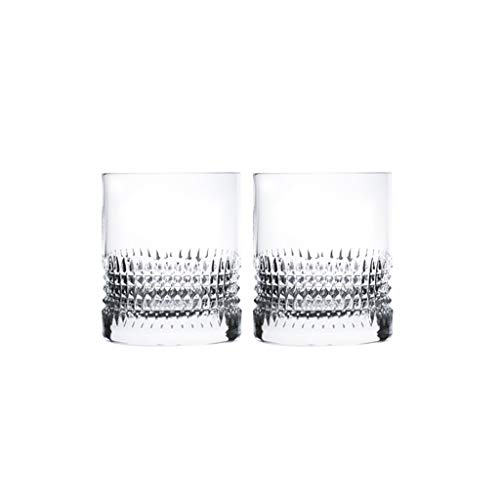 2 Pack Beer Mug Premium Pub Beer Glasses Whiskey Glasses Drinking Glasses for Beer Whiskey Cocktail (Color : Clear×2, Size : Small)