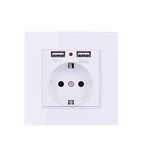 ZZALLL Toma de Corriente eléctrica de Pared estándar con Puertos USB Dobles...