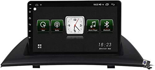 Android 10 MP5 Player GPS Navegación para BMW X3 E83 2004-2012, Soporte WiFi 5G DSP/FM RDS Radio de Coche Estéreo/BT Hands-Free Calls/Control del Volante/Carplay Android Auto