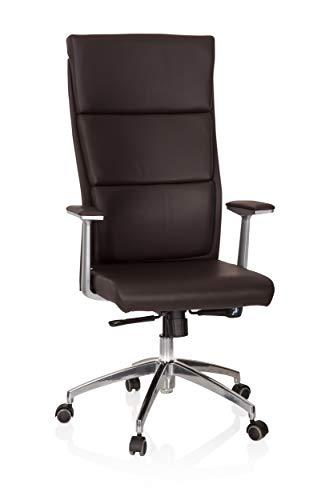 HJH Office, Monza 20, luxe, managersstoel, XXL, bureaustoel met hoge, ergonomische rugleuning 52.00 x 60.00 x 131.00 cm bruin