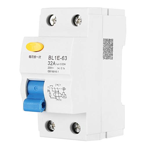 Interruptor diferencial BL1E-63 1P + N, 30 mA, interruptor diferencial para la transformación de la red rural para la decoración de interiores, para la protección
