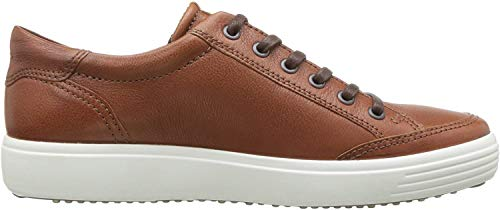 ECCO Men's Soft 7 Long Lace Sneaker, Cognac, 46 M EU (12-12.5 US)