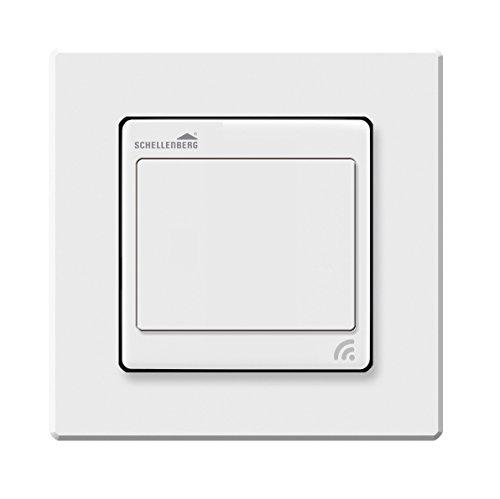 Schellenberg 21002 Funk-Lichtschalter Smart Home, Weiß, für Unterputz Montage, Lichtsteuerung per App, Fernbedienung und Zeitschaltuhr