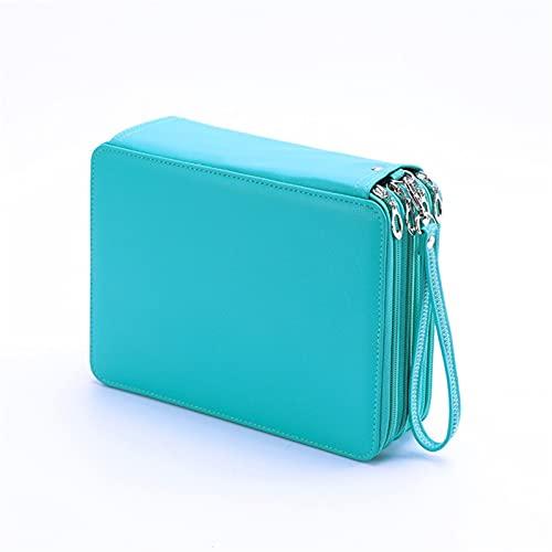 Papelería de oficina para niños 120/184/200 agujeros escuela lápiz caso para niñas niño lápiz cartucho grande caja de pluma grande penal papelería bolsa de almacenamiento kit bolsa, Clear,