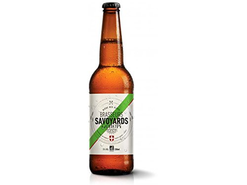 Cerveza Rubia Orgánica con Genepy - Cerveza con especialidad Genepi de los Alpes franceses - 0.33l