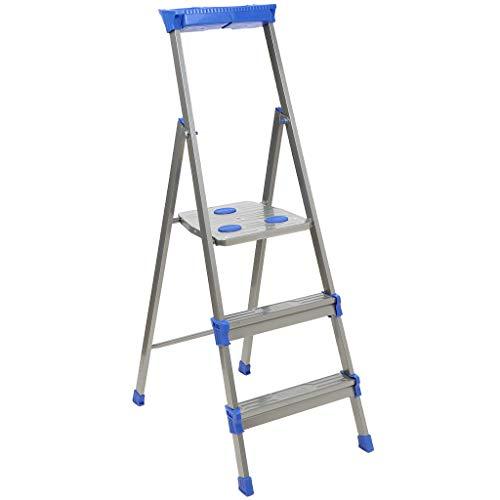 Nika Escalera 3 escalones de Acero, Plegable, Capacidad de Carga de hasta 150 kg