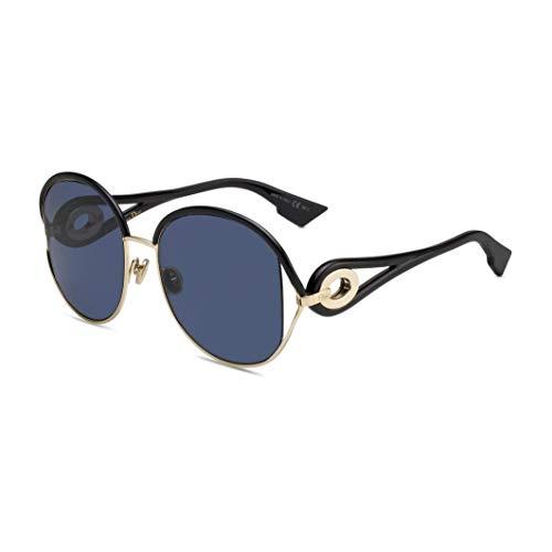 Christian Dior DIORNEWVOLUTE SQ Gafas, GOLD BLACK/BL BLU, 57 Mujeres