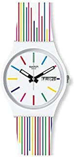 Swatch orologio WHITE SAMBA Originals Gent 34mm I love your folk GW712