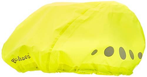 Playshoes Kinder-Unisex wasserdichter Regenüberzug, Regenschutz für Fahrradhelme Regenhut, Neongelb, M