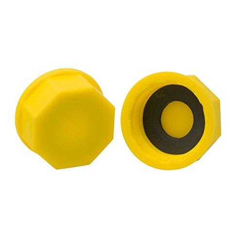 EZ-Pour Gas Can Cap - Solid Base Replacement Gas Tank Cap (Coarse Thread)