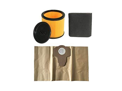 Parkside Filter Set Nassfilter, Trockenfilter und Staubsaugerbeutel 20 Liter für LIDL NASS TROCKEN Sauger PNTS Modelle