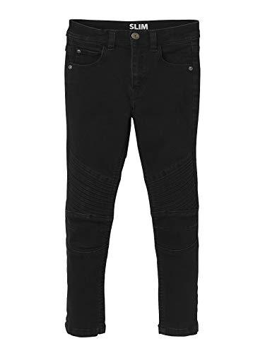 Vertbaudet Slim-Fit-Jeans für Jungen, Biker-Style schwarz 128