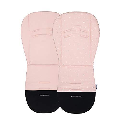Petite&Mars Foamy memory foam liner * Sitzeinlage * Universal Sitzauflage für Kinderwagen, Buggy * Anti-Stoß * Baumwolle (Pink Queen)