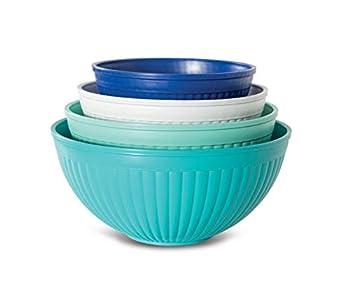 Nordic Ware Prep & Serve Mixing Bowl Set 4-pc Set of 4 Coastal Colors