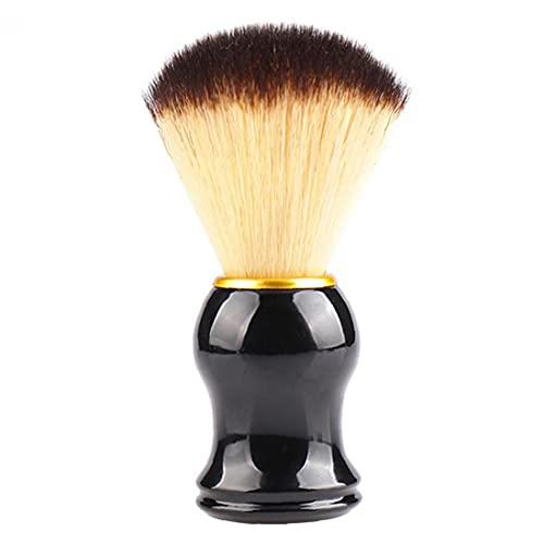 Hair Shaving Brush Shave Sweep Brush Boar Hair Straight Razor Barber Face Cleaning Handle Salon Tool Gift for Men Women Neck Duster Brush