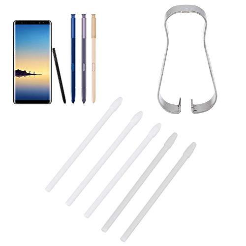 ASHATA Puntas de lápiz óptico de Repuesto para Samsung, Juego de Herramientas de Puntas de lápiz táctil S Pen Nibs para Samsung Galaxy Note 9, Note 8, para Galaxy Tab S3, Tab S4 (Blanco)