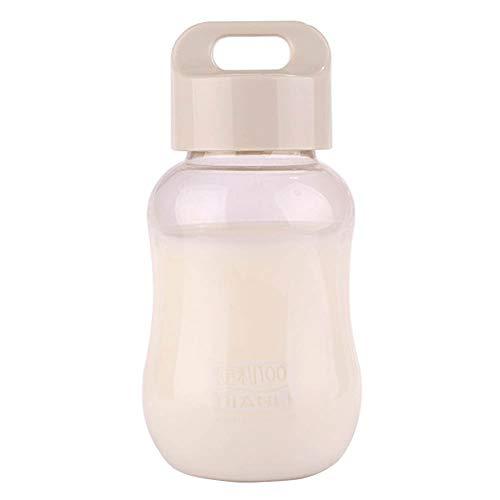 longyitrade Cantimplora para niños de 6,15 onzas, sin BPA, utensilios para beber, linda para niños en botella de color blanco brillante