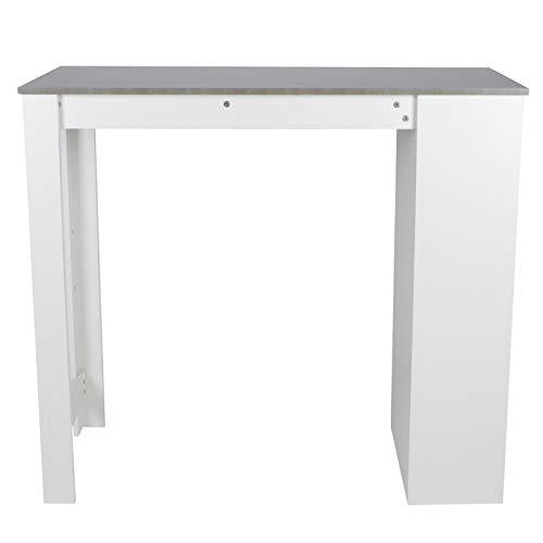 Biurko komputerowe panelowe |Wysoki stół |Stolik PC |Wysoki stół |Cztery półki z boku |Kuchnia do salonu z zabudową AGD 115 x 50 x 103 cm