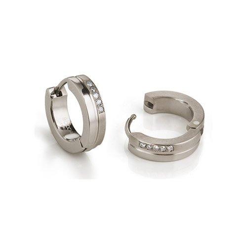 Boccia - 0510 - 11 - Boucles d'oreilles créoles Femme - Titane 1 Bijoutier Boutique