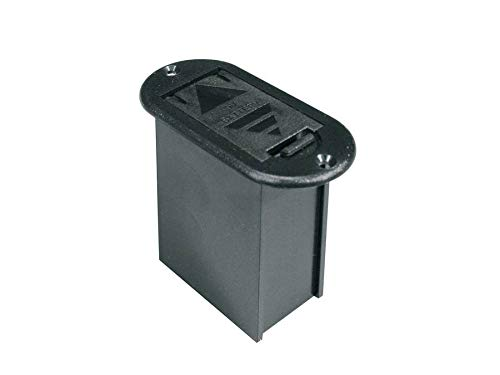 Boston Batterie-Fach, vertikal, ohne Schrauben und Batterie Clip. Für 9 Volt Block Batterie