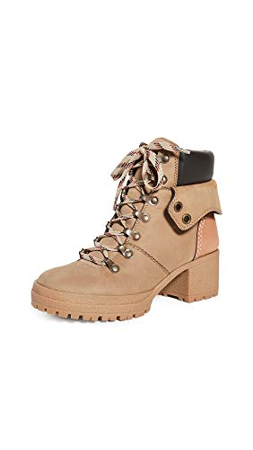 See by Chloe Women's Eileen Mid Heel Booties, Tortora/Natural, Tan, 11 Medium US