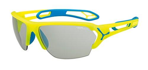 Cébé zonnebril S'track L Pro, Neon Yellow Vario Perfo/Clear, CBSTLPRO