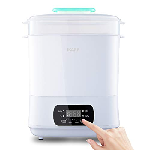 New IKARE 5-in-1 Baby Bottle Electric Steam Sterilizer and Dryer Machine 600W, Touch Control Panel -...