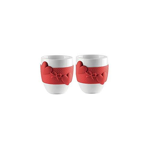 Guzzini 8008392292104 Kaffeebecher Love, 2 Stück