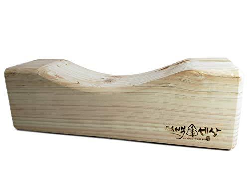 Natural Hinoki Cypress Rectangle Wooden Pillow