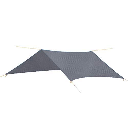 TRIWONDER Toldo de Tiendas de Campaña Impermeable Lona de Carpa Ligera para Acampar Picnic Playa al Aire Libre (Gris + Accesorios)