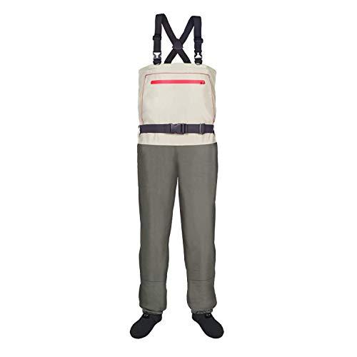 KUDO! Wathose für Herren, hohe Taille, 3-lagig, atmungsaktiv, mit strapazierfähigem Strumpf XL