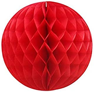 The Party Popper Honeycomb Ball, 30 cm Size, Red