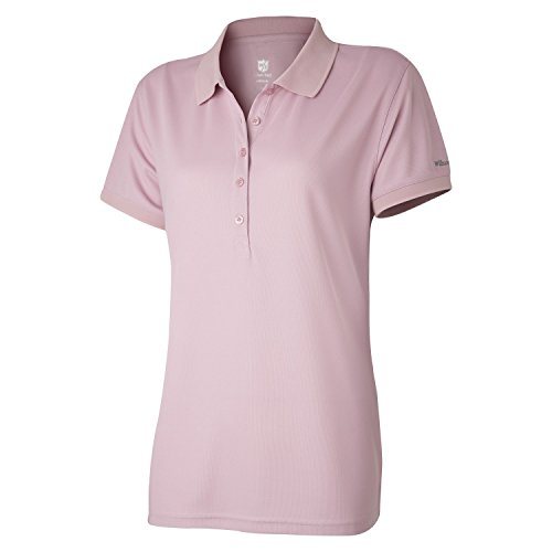 Wilson Golf Femme Polo de sport, AUTHENTIC POLO, Polyester, Rose (Zephyr Pink), Taille: L, WGA700318