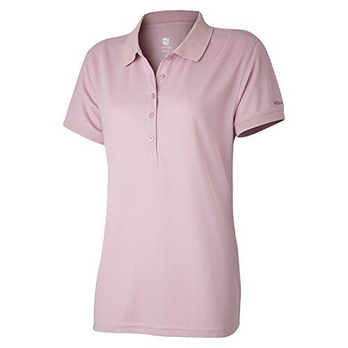 Wilson Damen Golf Poloshirt, Authentic Polo,Rosa (Zephyr Pink), L