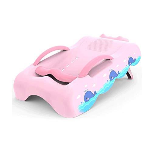 Equipo diario Silla de champú plegable para niños Silla reclinable para el cabello para niños en el hogar Protección del medio ambiente Material de PP Adecuado para 0 a 10 años de edad (Color: Rosa