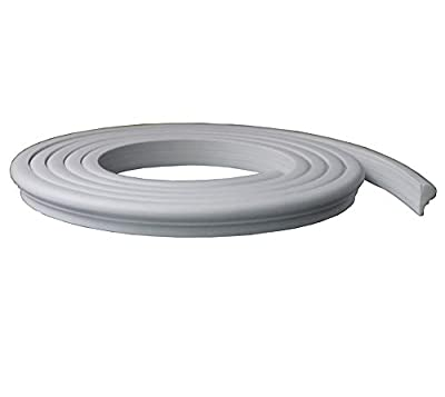 """Zhangbl Flexible Moulding Trim Ceiling Wall 0.87 inch (2.2cm) Width x 0.47"""" Thickness x 115"""" Length"""