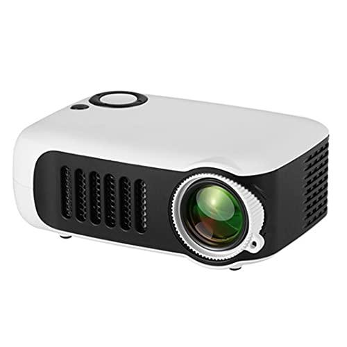 Mini proyector de Bolsillo LED Proyector portátil de vídeo Recargable de película USB de Alta definición para el hogar al Aire Libre