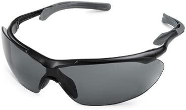 Gateway Safety 35BK83 Flight Cushioned Eye Safety Glasses, Gray Lens, Black Frame