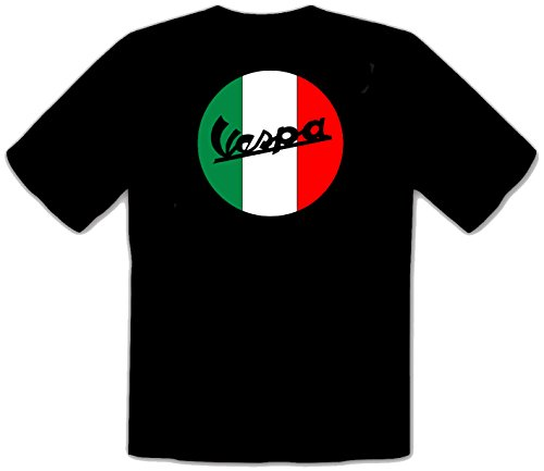 zagorka Vespa Scooter Fun Negroe Camisetas T-Shirt - 558 -SW
