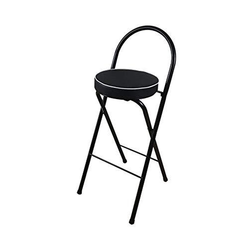 Folding Chairs Taburetes de Bar, taburetes Altos, sillas de mostrador, sillones, sillas Plegables, sillas de Bar, Altura de Asiento Negra 65cm / 70cm / 75