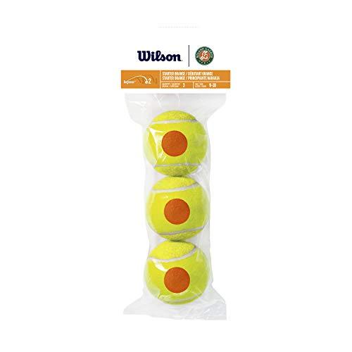 Wilson Tennis 10s, WRT147700 Tubo con 3 Palline da Tennis per Bambini, Fase 2, Principiante Arancione